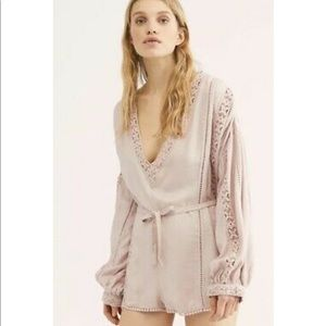 NEW • Free People • I Mean It Rober Romper Pink Lg